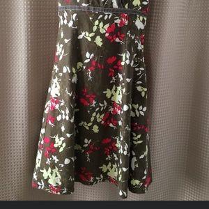 Vintage Point zero Floral linen dress size xs